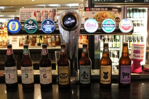The Bridge House in Belfast, and their selection of bottled craft beer versus mass-marketed beers on tap.
